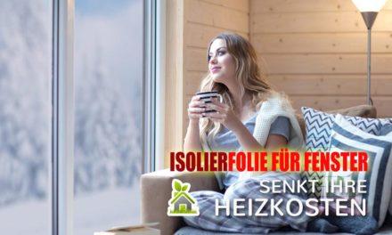 Jetzt im Winter Fenster mit Folie isolieren und Geld sparen