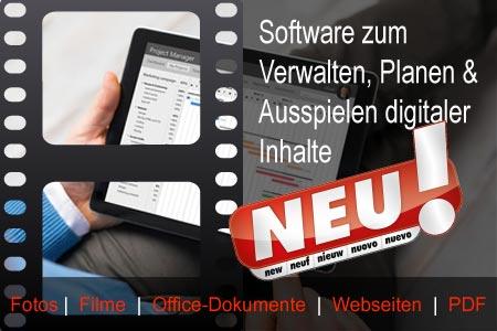 Verwaltungssoftware für Beamerprojektion