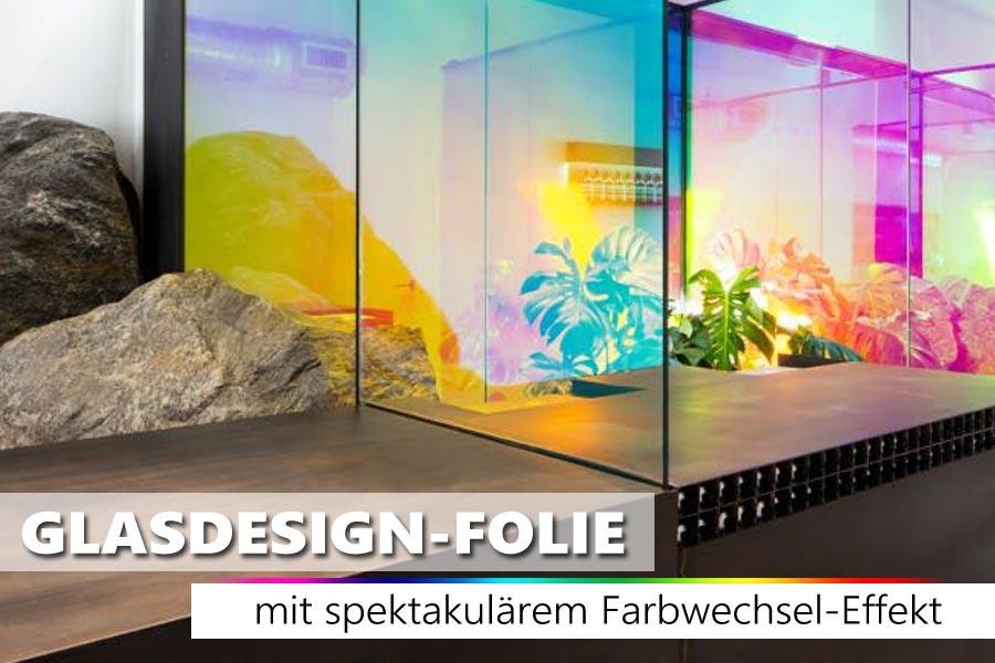 Transparente Regenbogenfolie mit spektakulärem Farbwechseleffekt