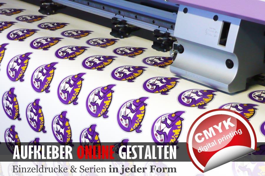 Aufkleber drucken mit einem Eco-Solvent Digitaldrucker