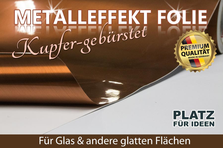 Metalleffektfolie kupfer matt geb rstet ifoha for Wandfolie transparent