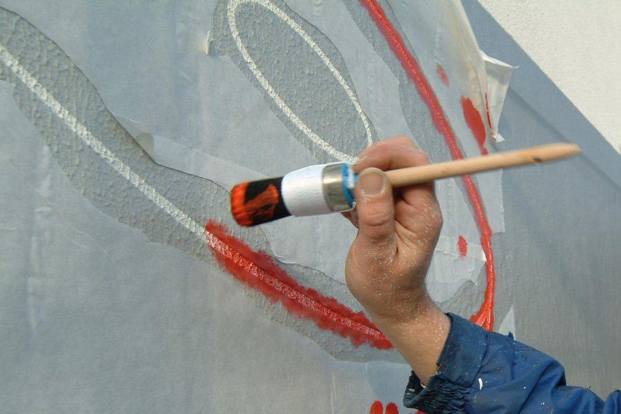 Schablonenfolie als wandschablone zum malen auf rauen for Wandfolie transparent