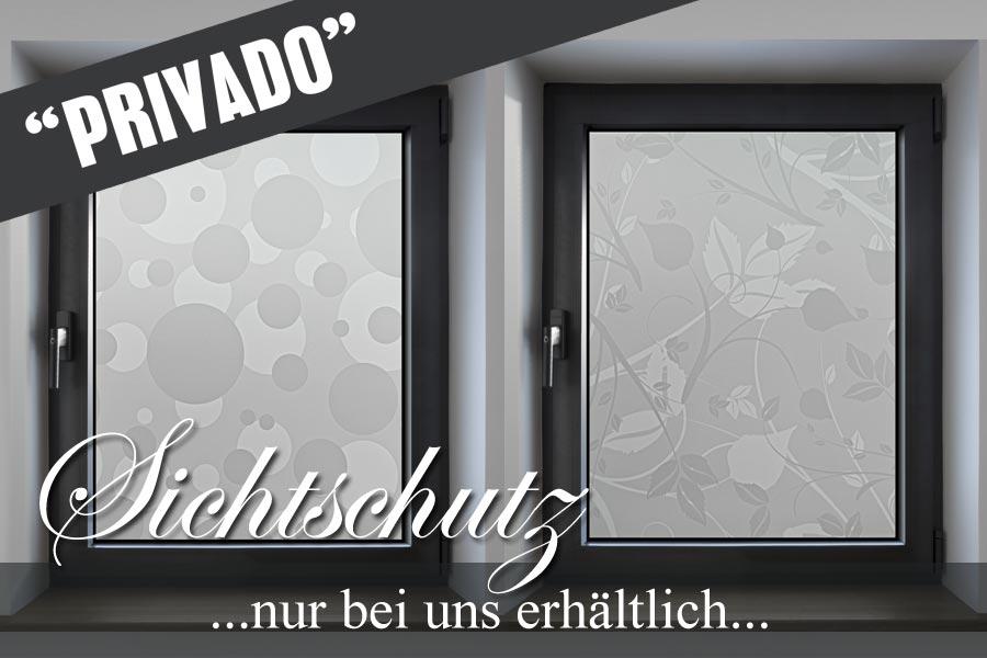satinierte sichtschutzfolie PRIVADO auf Flurfenster
