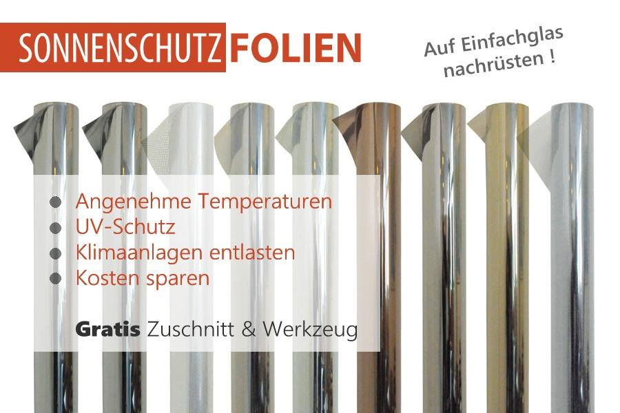Sonnenschutzfolie für Einfachglas nachrüsten und Kosten sparen