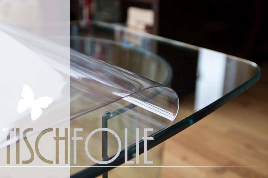 glasklare rutschhemmende pvc tischfolie in 1mm ifoha. Black Bedroom Furniture Sets. Home Design Ideas