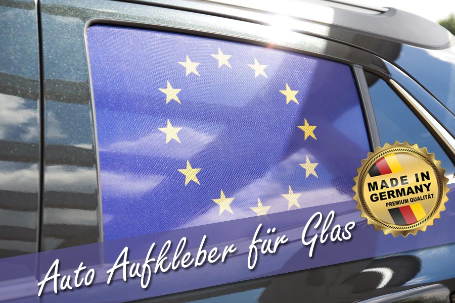 eu-länderflagge auf seitenscheibe opel mokka