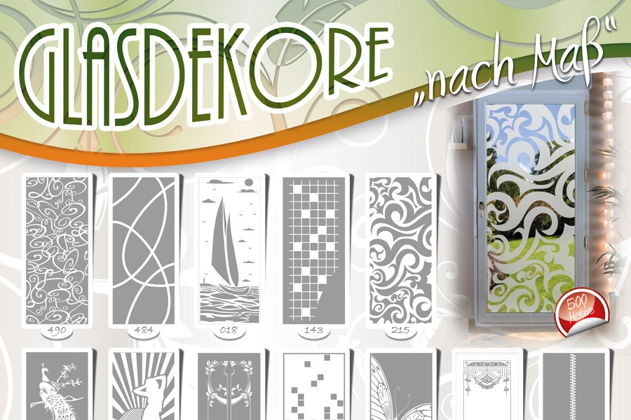 Gratis poster din a 1mit glasdekoren sandstrahlmotiven for Wandfolie transparent