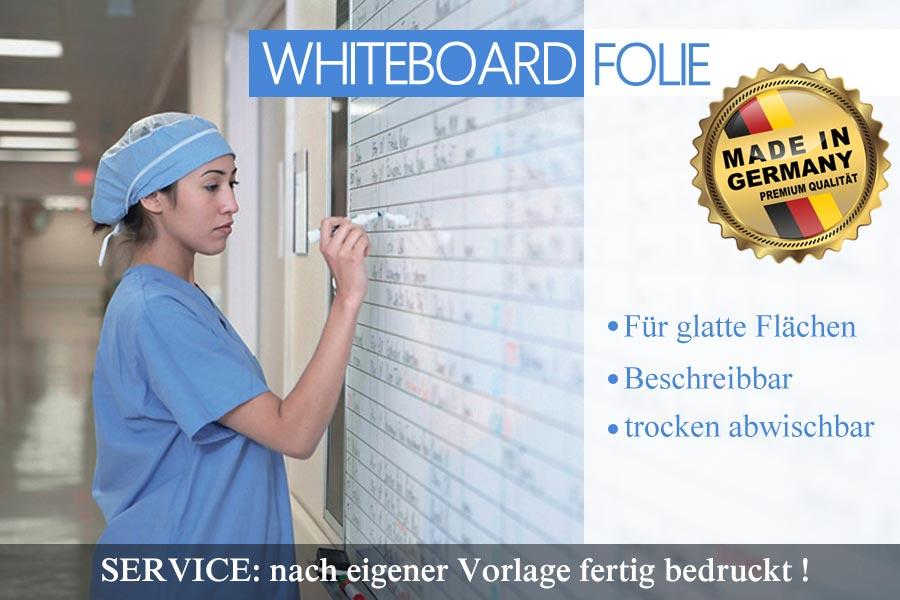 Whiteboardfolie als Wochenplaner im Krankenhaus