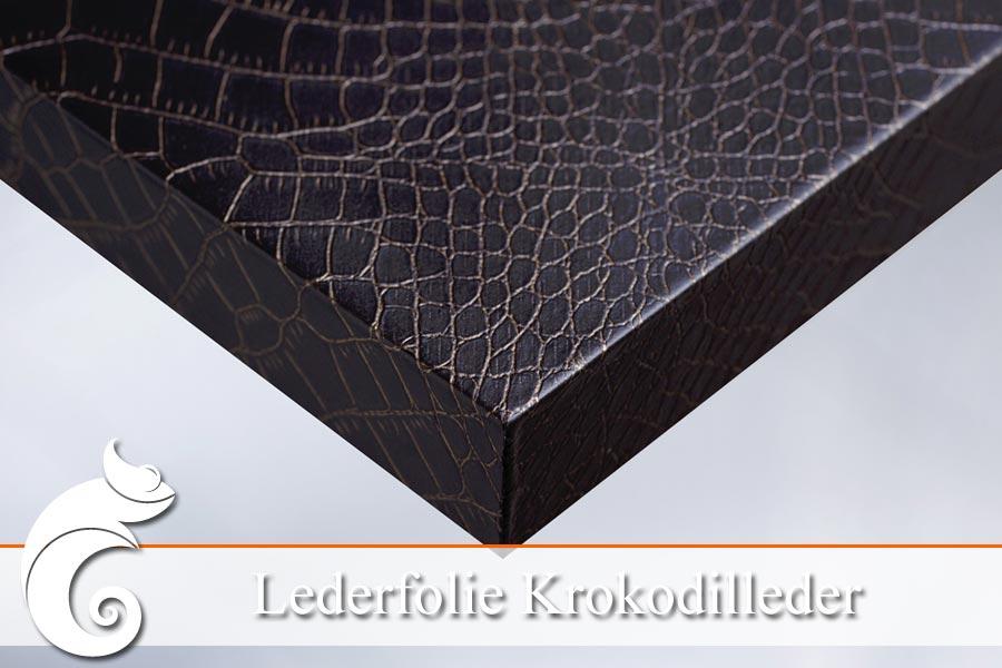 Mit lederfolie krokodilleder g nstig m bel folieren ifoha for Klebefolie transparent farbig