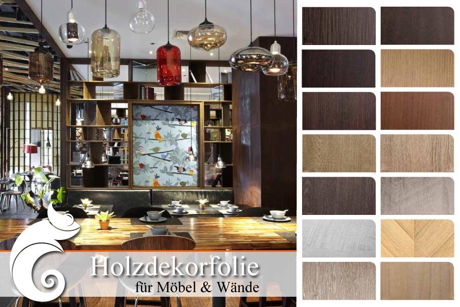 küche mit folierter küchenfront und tisch in holzoptik