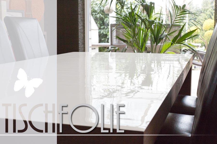 edel wirkende tischfolie wei aus 2mm weich pvc ifoha. Black Bedroom Furniture Sets. Home Design Ideas