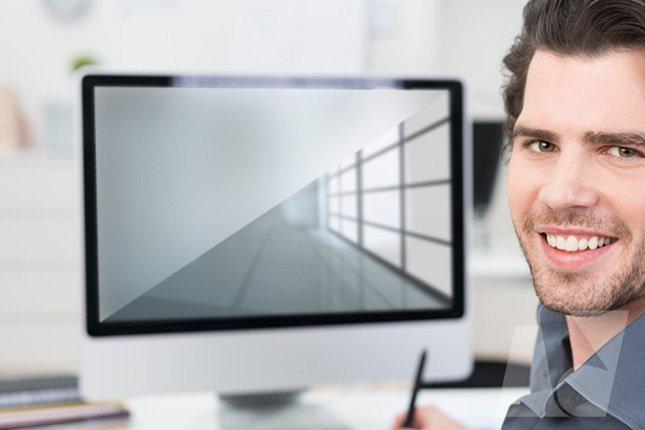 Folie zum entspiegeln von displays und glas in hoher for Klebefolie transparent farbig