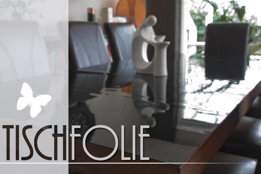 Tischdecke schwarz gl nzend aus weich pvc ma gefertigt ifoha for Wandfolie transparent