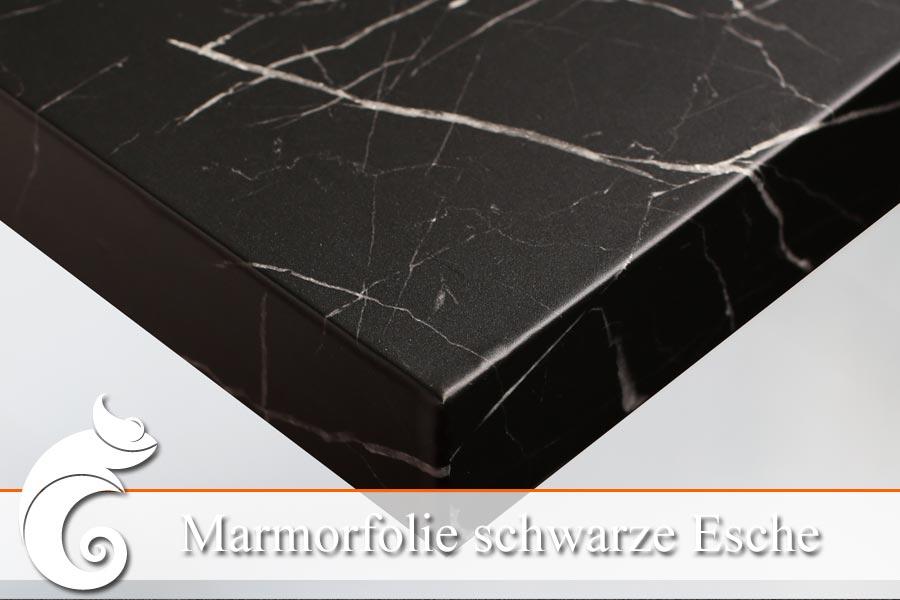 Schwarze marmorfolie in esche optik auf ma bestellen ifoha for Wandfolie schwarz