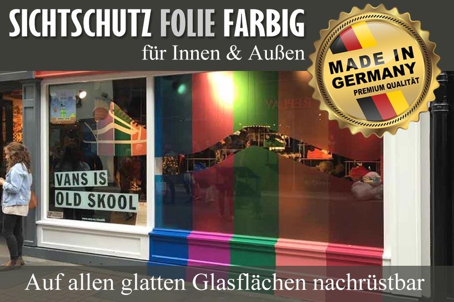Sichtschutzfolie farbig zum nachr sten auf allen for Selbstklebende wandfolie shop