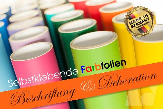 Sortiment farbige Folien auf Rolle nach Farbe sortiert